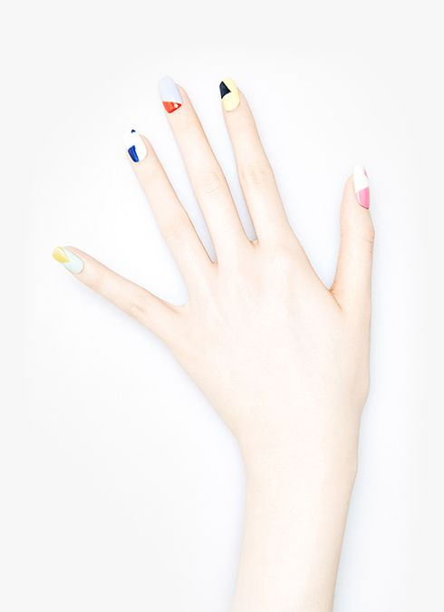 One of the great things about geo nails: they're modern and edgy without making it look like you tried too hard #nails #makeup #beauty