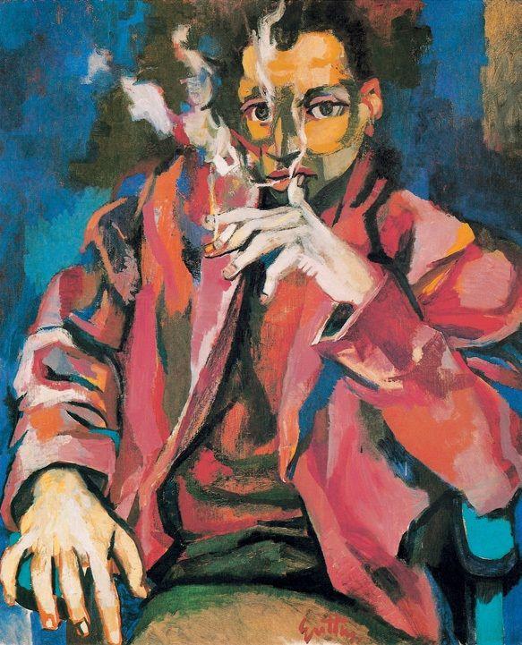 The Smoker, Renato Guttuso (1912–1987).