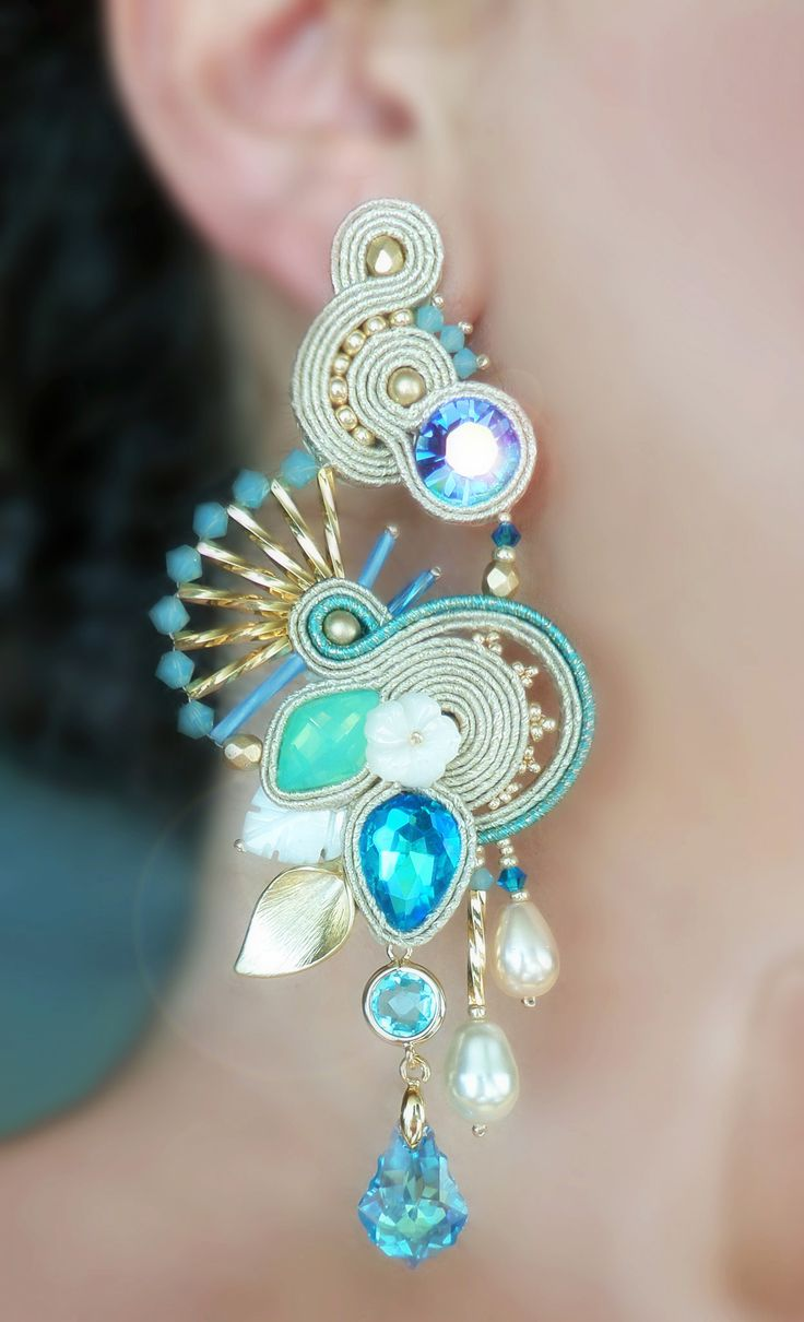"""Soutache Earrings by SERENA DI MERCIONE - (inspired by a """"Adel's Laboratory"""" design)"""