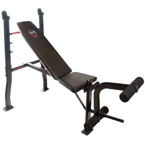 Olympic Weight Bench With Leg Attachment Curl Preacher Gym Training Fitness  #Unbranded