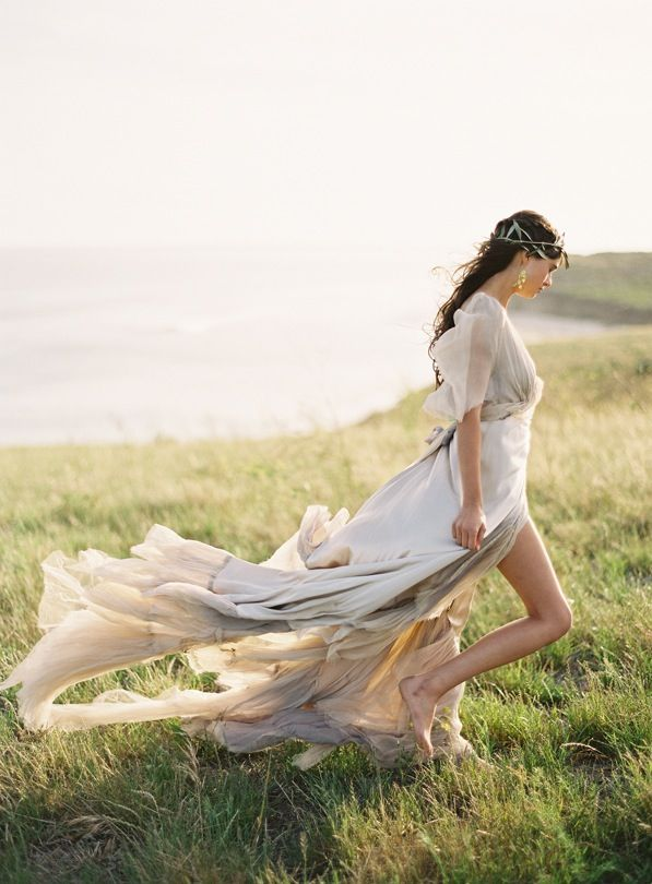 So beautiful.... Greek Goddess Greek Goddesses Grecian Wedding Inspiration Samuelle Gown