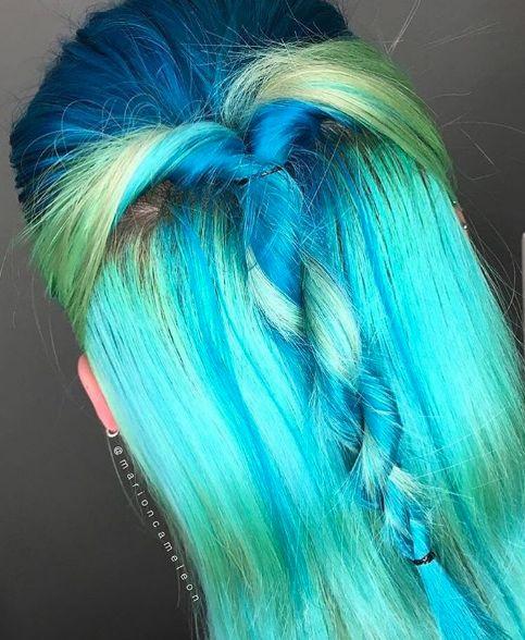 Aquamarine, Iris Green + Neon Moon ✔️ @marioncameleon