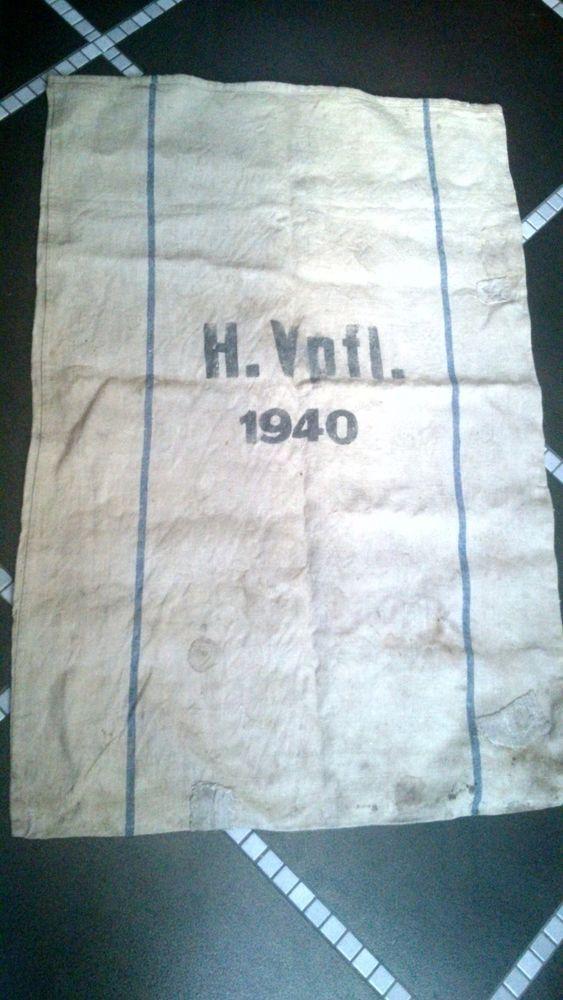 ORIGINAL WW2 WWII GERMAN ARMY FOOD PROVISIONS CLOTH BAG EAGLE EASTERN FRONT