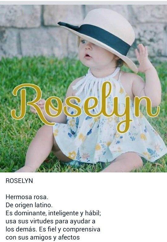 Nombres de niñas, significado del nombre Roselyn