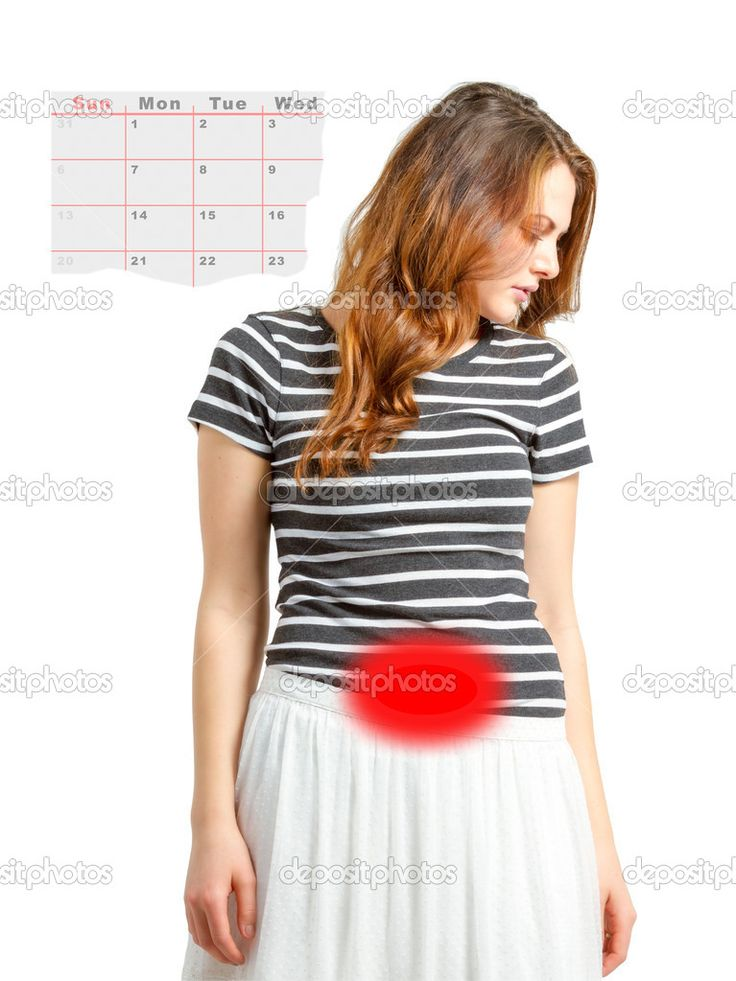 Conceptual woman dealing with menstrual cycle issues