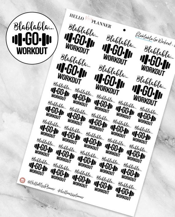 Fitness Planner Stickers - Functional Planner Stickers - Erin Condren Planner Stickers - Workout Planner Stickers - Happy Planner - 041