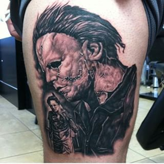 1000 images about rob zombie horror movie tattoos on for Michael myers tattoo