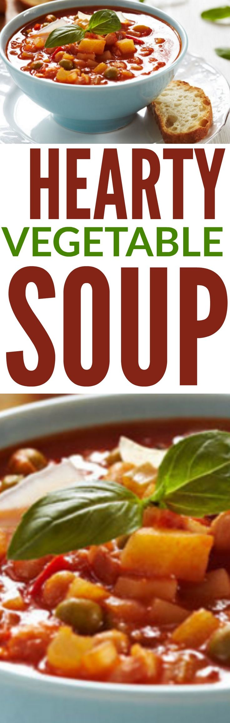 Vegetable Soup - Hearty Vegetable Soup #soup #vegetablesoup #healthysoup #healthyvegetablesoup #souprecipe #healthysouprecipe #cleaneatingsoup #cleaneating #eatclean #cleaneatingvegetablesoup
