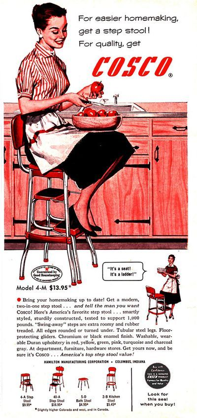 Cosco step-stool ad  for easier home-making   sc 1 st  Pinterest & 13 best COSCO Retro Step Stool images on Pinterest | Step stools ... islam-shia.org