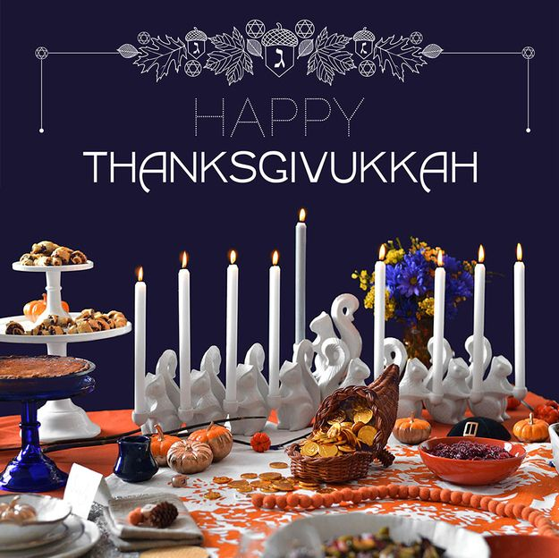 Happy #Thanksgivukkah! The best #Thanksgiving and #Hanukkah recipes and celebrations.