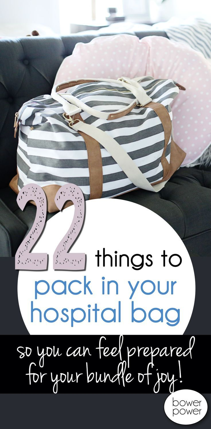 Absolutely necessary things for your hospital bag