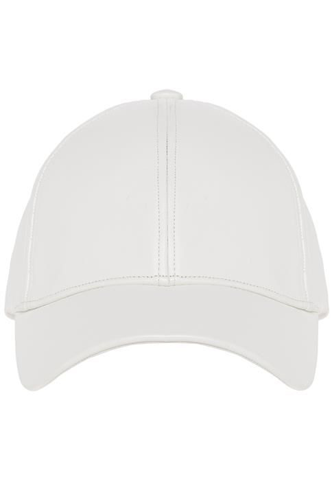 For the ultimate off-duty look we love a baseball cap!This neutral toned cap is crafted from a leather look fabric.Pair with classic denim jeans and a tee for a laid back weekend look.