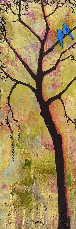Tree Triptych - acrylic by ©Blenda Tyvoll (via FineArtAmerica)