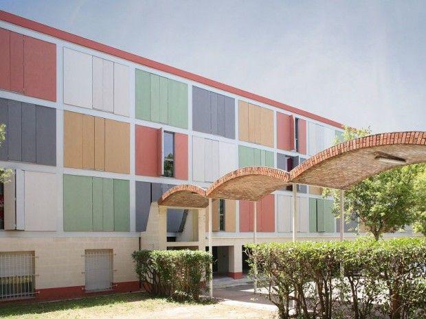 Le Crous d'Aix-Marseille a réhabilité les bâtiments de la cité U des Gazelles. Un chantier particulier puisque le pavillon 1 est une réalisation de l'architecte Fernand Pouillon, inventorié au ... #BatiActu