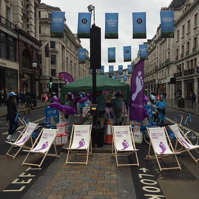 """@pogolicious #getbarefoot #regentstreet #summerstreets come on over to Regent St today !!! """"A little fizz a lot of fun """" come and try our """"Refresh Range """""""