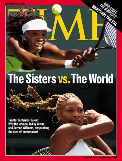Venus & Serena Williams, September 3, 2001.  #tennis
