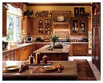 Ideas On Decorating Above The Kitchen Cabinets