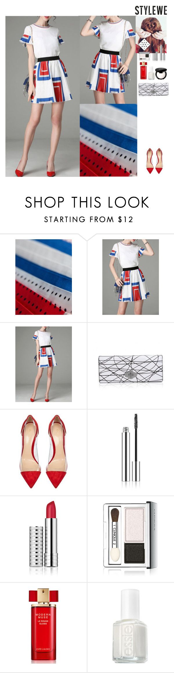 Outfit StyleWe by eliza-redkina on Polyvore featuring мода, Gianvito Rossi, MAKE UP FOR EVER, Estée Lauder, Essie, outfit, like, look and stylewe