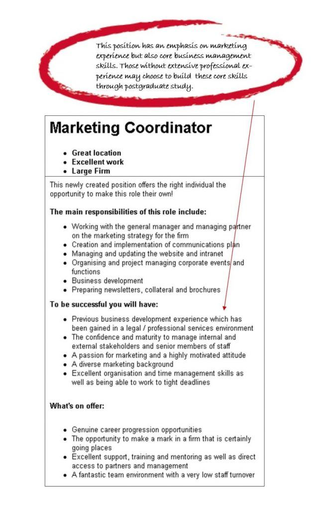 Cover Letter Example Resume Objective For Marketing Coordinator