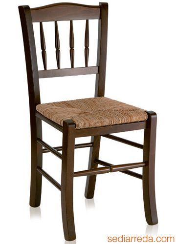 122 | Holz Stuhl Für Restaurant, In Der Nussbaum Farbe Lasiert, Mit Sitz Aus
