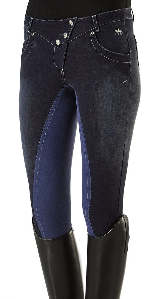 Pfiff Luxury Denim Full Seat Breeches