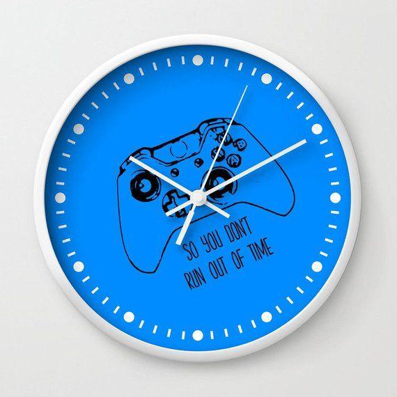 Gamer Clock, Gamer Gift, Gamer Wall Clock, Video Game Clock, Gaming Gift, Gamer Room, Dorm Room Deco