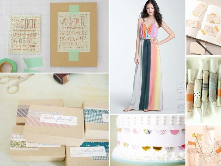 Washi Tape Wedding Ideas | Burnett's Boards - Daily Wedding Inspiration