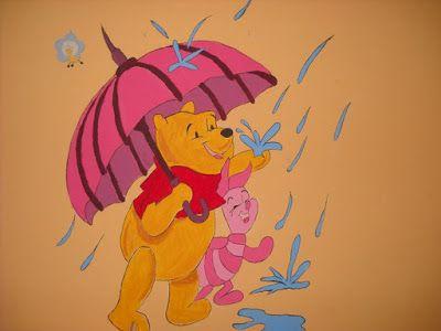 Βάλε χρώμα: Ζωγραφιά σε παιδικό δωμάτιο με θέμα τον Winnie