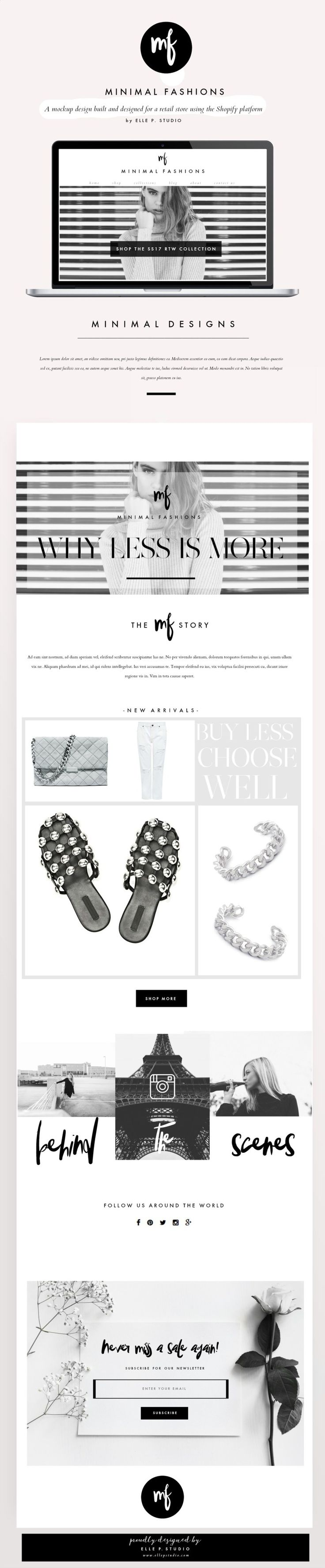 Shopify Fashion Retail Website Design by Elle P. Studio