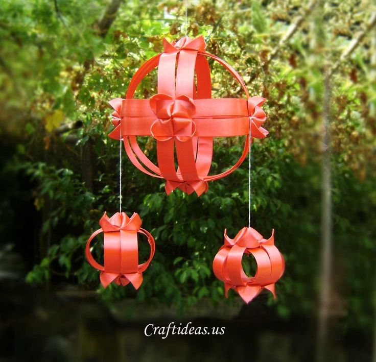 ribbon lantern tutorial