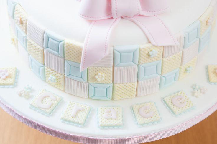 Chridtening cake for Grace