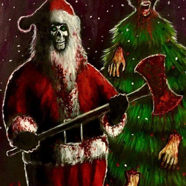 Santa Slays Creepy Christmas Holidaze Cool Watches