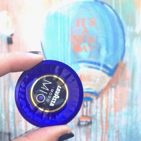 A modo mio-- the Lavazza capsule plus a painting by #alicepasquini