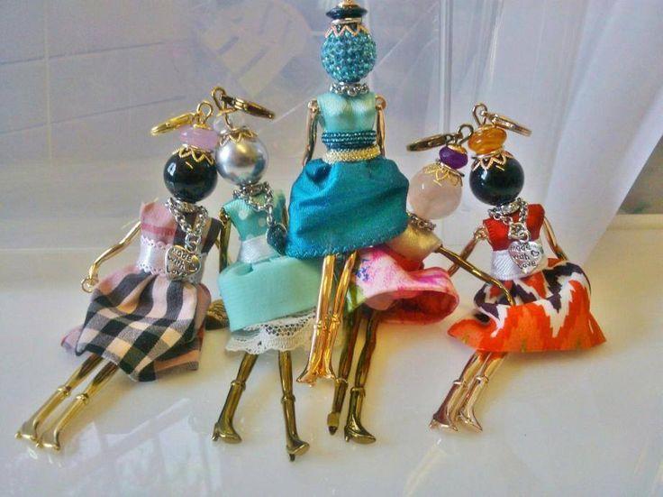 Popolare 14 best bamboline ciondolo ad uncinetto con vestitini images on  DY84