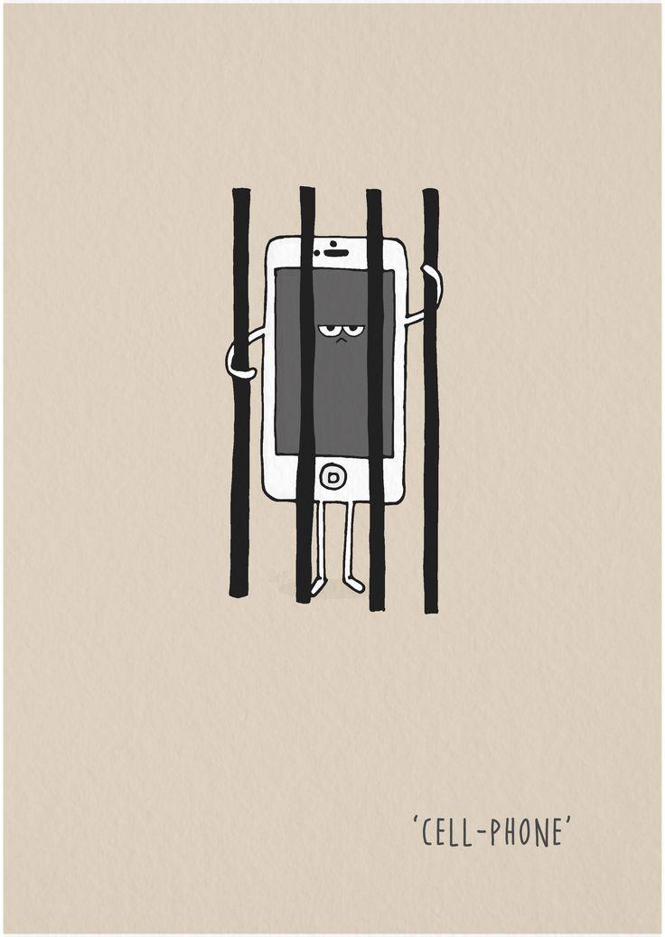 #doodleaday2017 #punnylanguage #cellphone