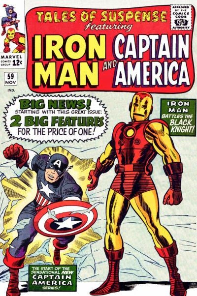 Tales of Suspense #59. Iron Man by Don Heck & Chic Stone; Captain America by Jack Kirby & Chic Stone. Key Silver Age comic.