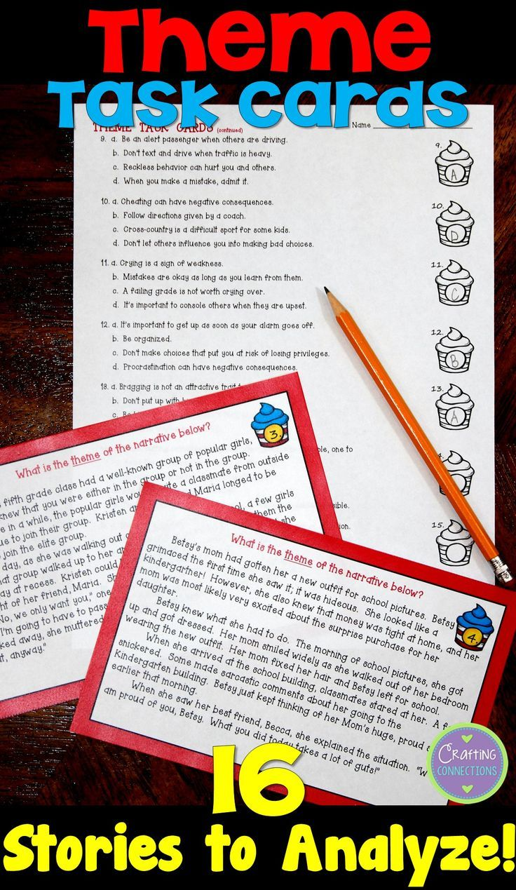 best images about theme graphic organizers themes in literature task cards