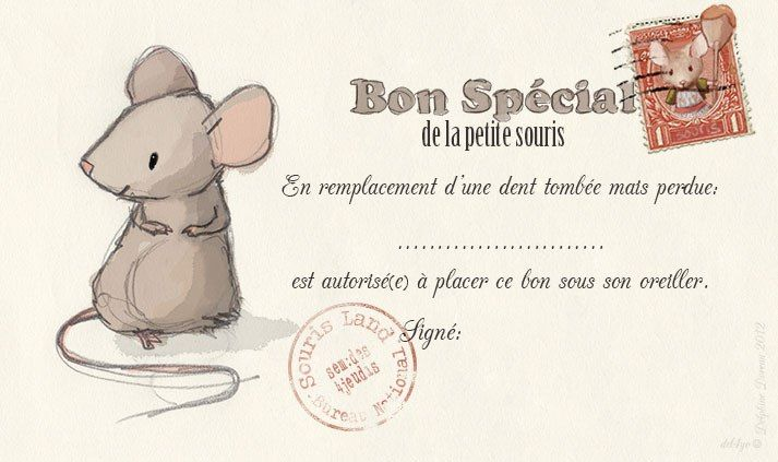 """souris02--French """"Tooth Mouse"""" Certificate"""