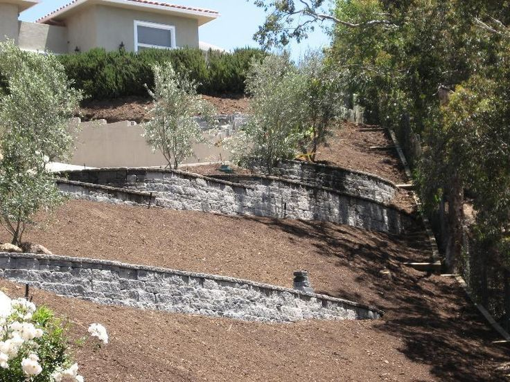 27 best sloping yard solutions images on pinterest for Sloped yard solutions