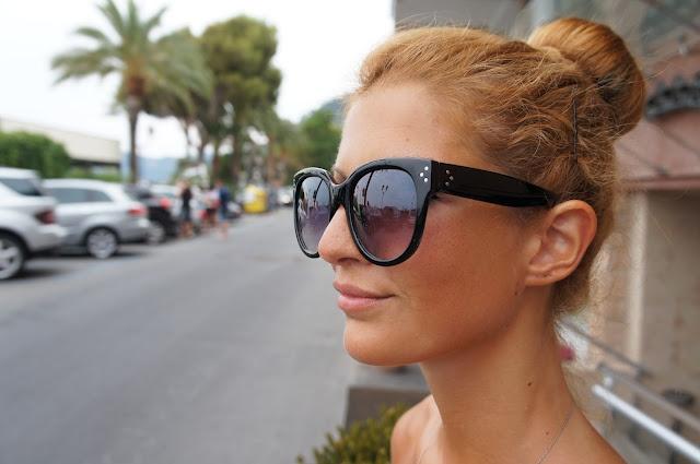 Chic Retro Oversized Cat Eye Studded Sunglasses