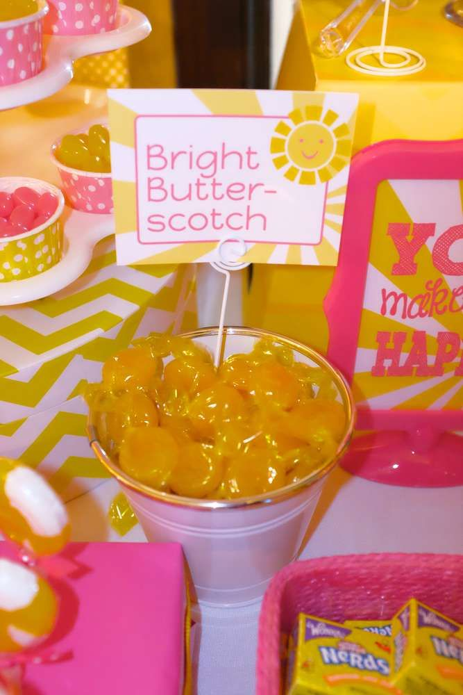You are my sunshine birthday party candy!  See more party planning ideas at CatchMyParty.com!