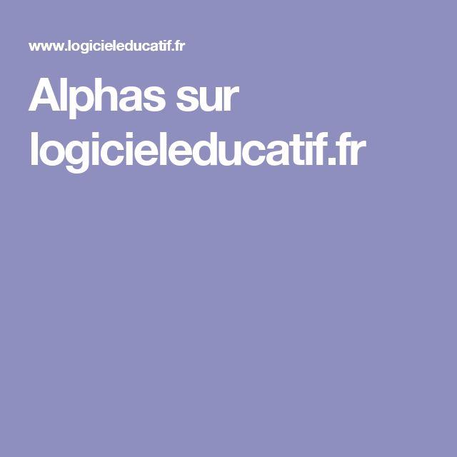 Alphas sur logicieleducatif.fr