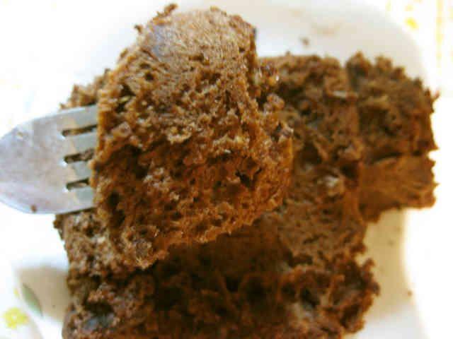 レンジで2分!超簡単ココアケーキ♥の画像