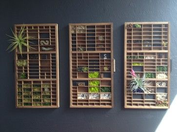 Grow a Mini Vertical Garden in Printing Press Drawers