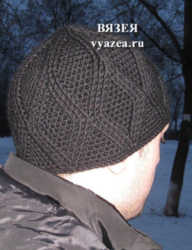 шапка крючком схема: