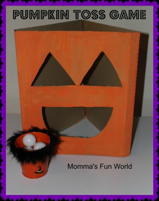 Momma's Fun World: DYI Pumpkin toss game