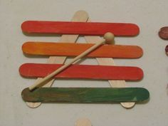 Craft Stick Xylophones (with more xylophone activities at the bottom)