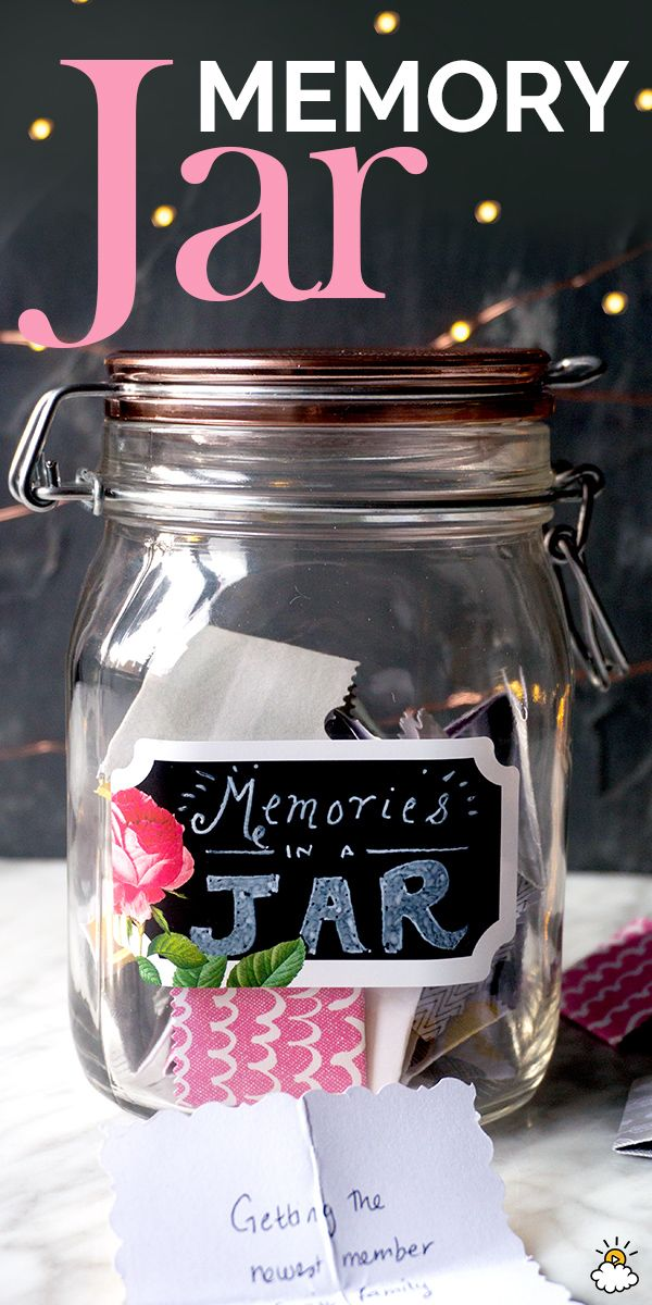 pinterest mason jar bridal shower favors%0A How To Make A DIY Memory Jar For The New Year