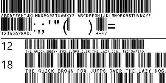 Font Barcode Free Download - C39HrP48DhTt (TrueType)