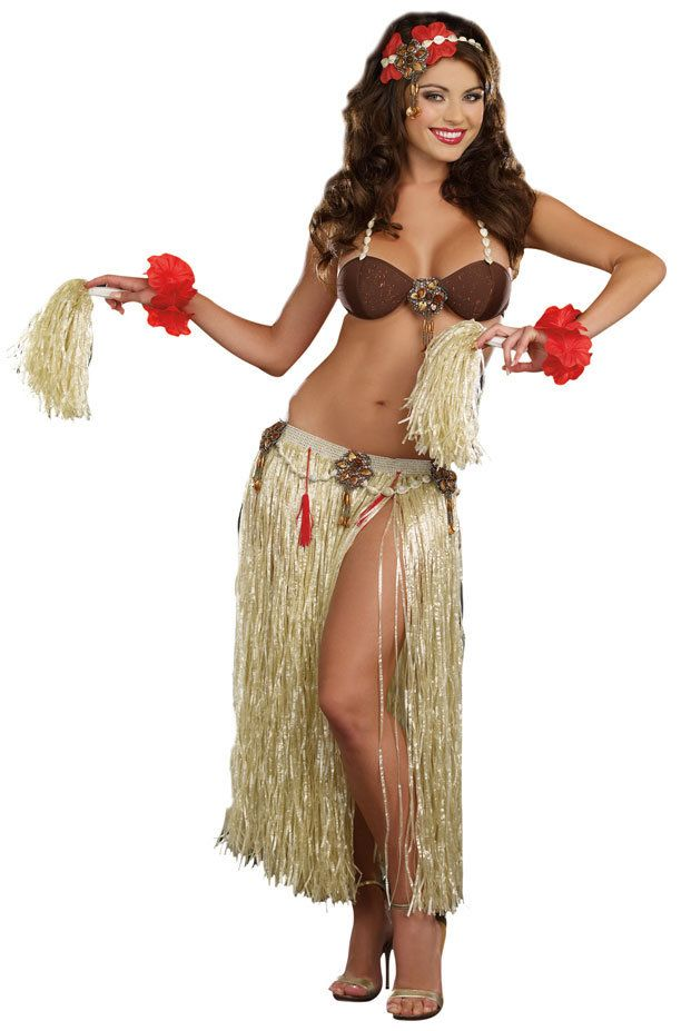 Sexy Tahiti Sweetie Luau Costume - Hawaii Ideas  Sexy Halloween -2323